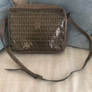 Fendi Zucca Vintage Vinyl Shiny crossbody handbag
